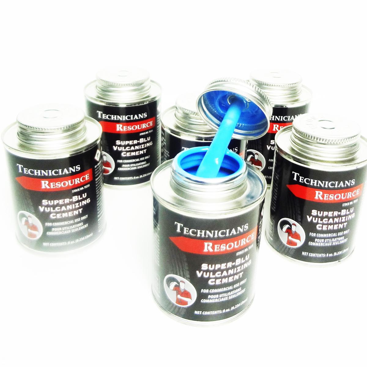 Hd Blue Vulcanizing Cement Tire Patch Glue 6pc