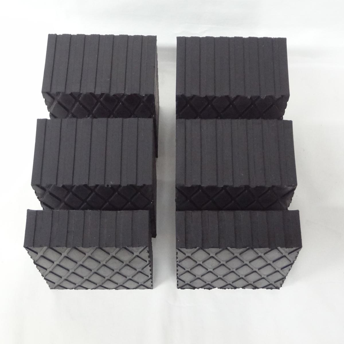 """Set 1.5"""" & 3"""" Solid Rubber Auto Lift Block Pad Fj2428"""