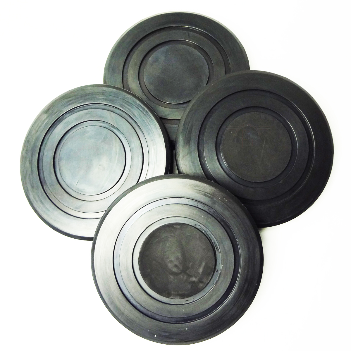 Round Rubber Arm Pads Ammco Lift Quality B2208 set of 4