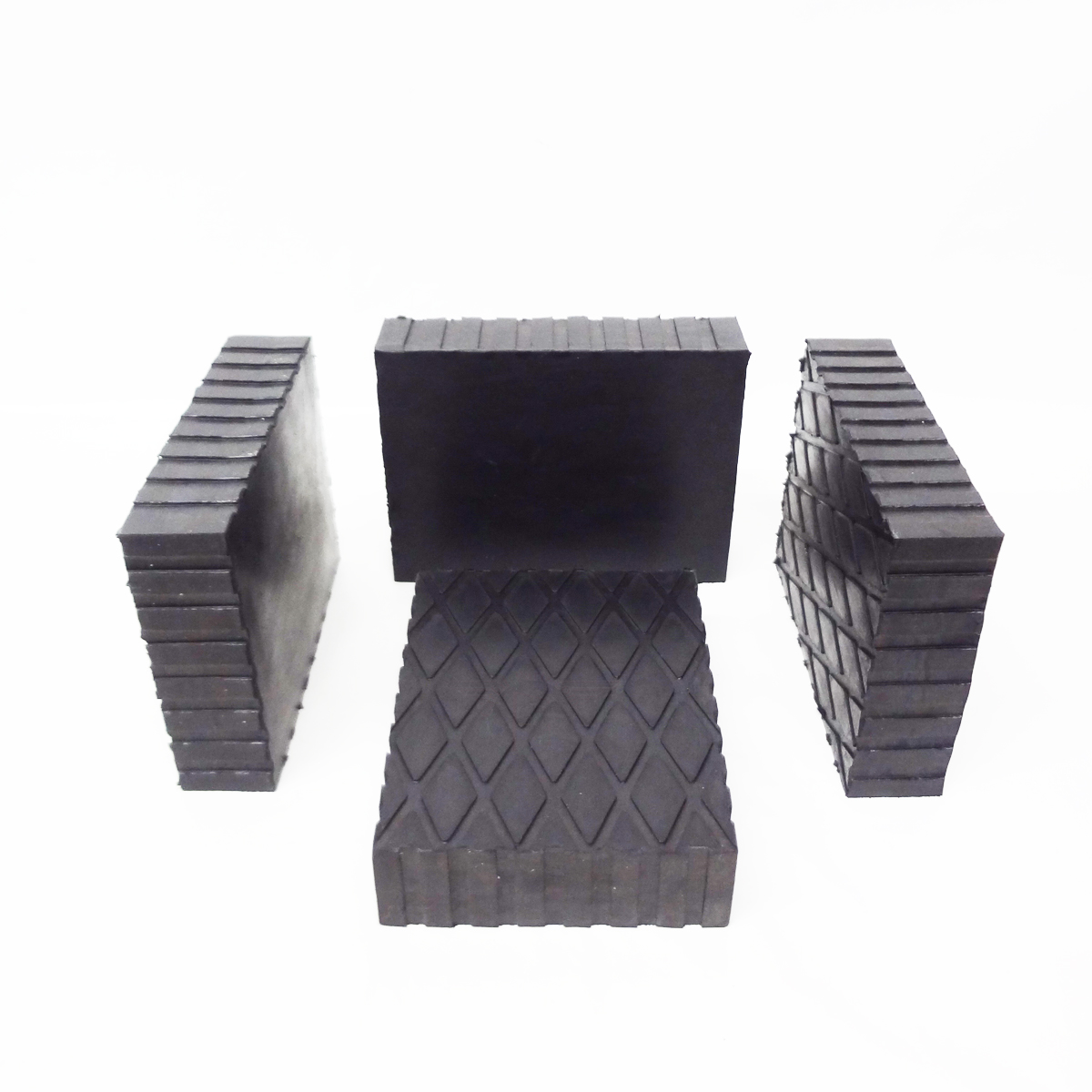 4 in 1 Auto Lift//Rolling Jack Rubber Block Pad Adapter Set for Car Auto Truck Hoist Square