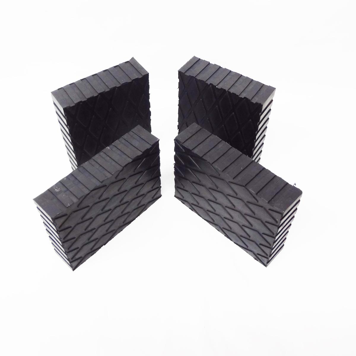 Solid Rubber Lift Block Pad 6 Quot X 4 3 4 Quot X 1 5 Quot Set Of 4